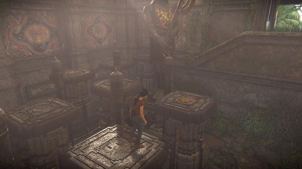 アンチャーテッド 古代神の秘宝 攻略 チャプター4 斧の像の部屋での足場進み方や進行ルート